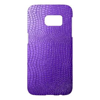 Purple Crocodile Leather Texture Print Samsung Galaxy S7 Case