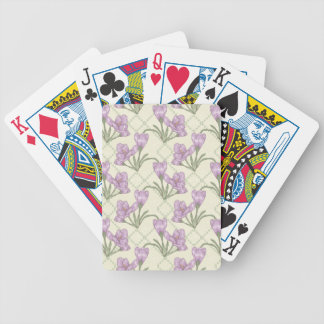 Purple Crocus Bicycle Playing Cards