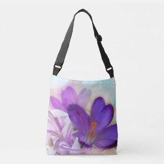 Purple Crocus Cross-Body Crossbody Bag