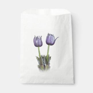 Purple Crocus Flowers Favour Bag