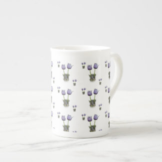 Purple Crocus Flowers Tea Cup
