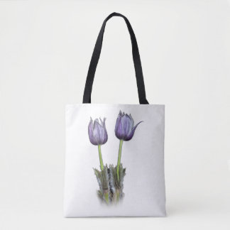 Purple Crocus Flowers Tote Bag