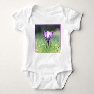 Purple Crocus in spring 03.3 Baby Bodysuit