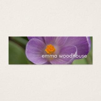 Purple Crocus PICT5930 Mini Business Card