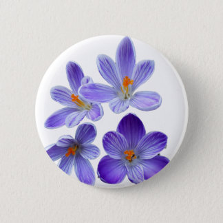 Purple crocuses 02 2 inch round button