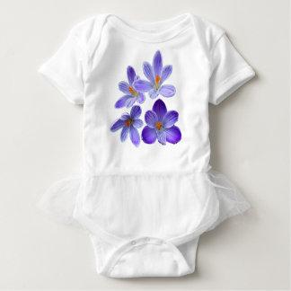 Purple crocuses 02 baby bodysuit