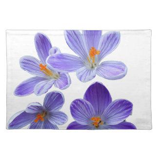 Purple crocuses 02 placemat