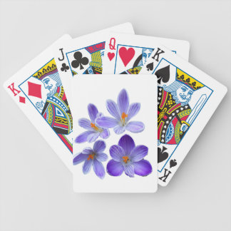 Purple crocuses 02 poker deck