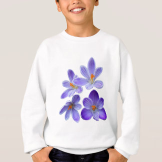 Purple crocuses 02 sweatshirt