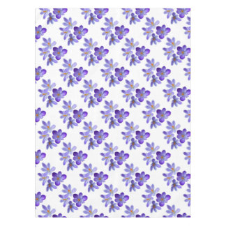 Purple crocuses 02 tablecloth