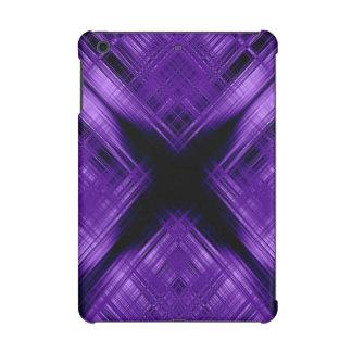 Purple cross and grid iPad mini retina case