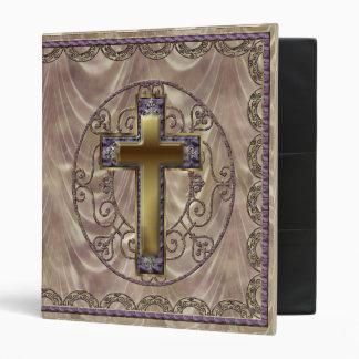 Purple Cross Dark Binder
