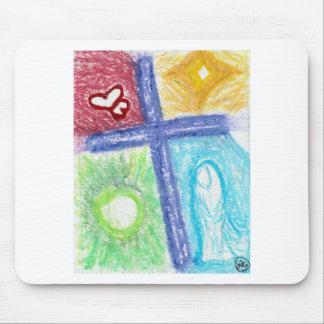 Purple Cross of Jesus: original art Mouse Pad