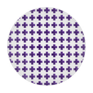 Purple Cross Pattern Art Cutting Board