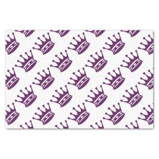 Purple Crown Gift Wrap Tissue Paper