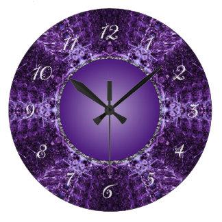 Purple Crown Jewel Large Clock