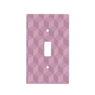 Purple Cubes Light Switch Cover