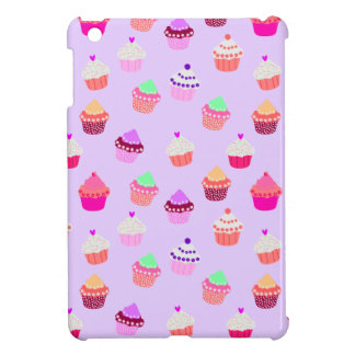 Purple Cupcake Confetti iPad Mini Cover