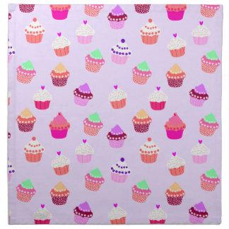 Purple Cupcake Confetti Napkin