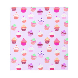 Purple Cupcake Confetti Notepads