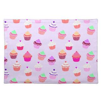 Purple Cupcake Confetti Placemat