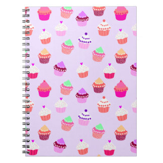 Purple Cupcake Confetti Spiral Notebook