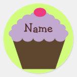 Purple Cupcake Gift Sticker