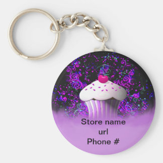 Purple Cupcake Keychain Promote Your Business