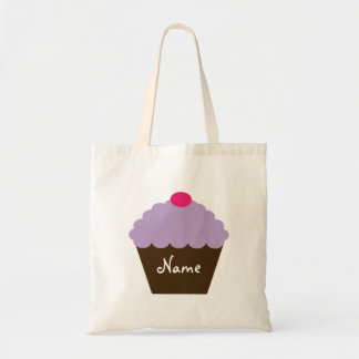 Purple Cupcake Love Personalized Grocery Bag