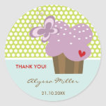 Purple Cupcake Thank You Birthday Party Gift Tag