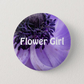 Purple Curls 2 Inch Round Button