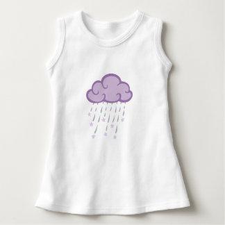 Purple Curls Rain Cloud With Falling Stars Dress