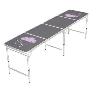 Purple Curls Rain Cloud With Falling Stars Pong Table