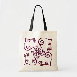 Purple Curls Tote Bag