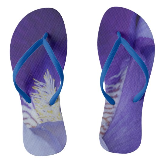 Purple Custom Adult, Slim Straps Flip Flops