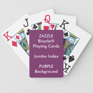 PURPLE Custom Bicycle® Jumbo Index Playing Cards