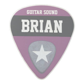 purple/custom-color personalized acetal guitar pick