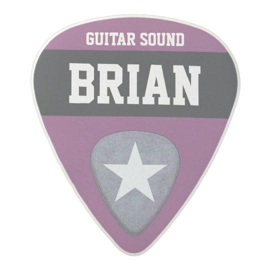 purple/custom-colour personalized acetal guitar pick