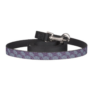 Purple cyan mandala pattern. dog lead