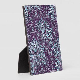 Purple cyan mandala pattern. plaque
