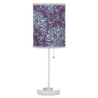 Purple cyan mandala pattern. table lamp