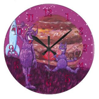 Purple Cyclops on Jupiter Large Clock