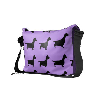 Purple Dachshund Wiener Dog Bag Courier Bag