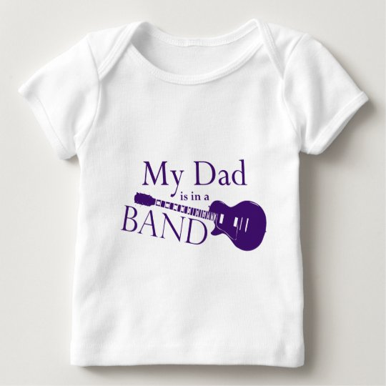 Purple Dad is in a Band Baby T-Shirt