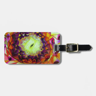 Purple Dahlia abstract original flower art Luggage Tag