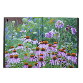 Purple dahlia and echinacea garden ipad air case
