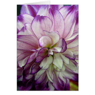 Purple Dahlia Design Blank Notecard