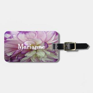 Purple Dahlia Design Luggage Tags
