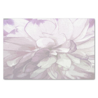 Purple Dahlia Design Tissue Paper
