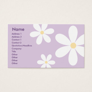 Purple Daisies - Business Business Card